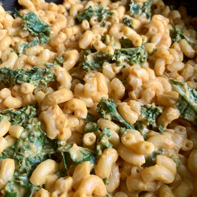 Vegan Sweet Potato and Kale Mac and Cheese